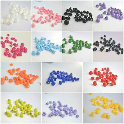 B3-10mm 10pcs BABY HALF BALL DOME SEWING PLASTIC SHANKED BUTTONS - CHOOSE COLOUR