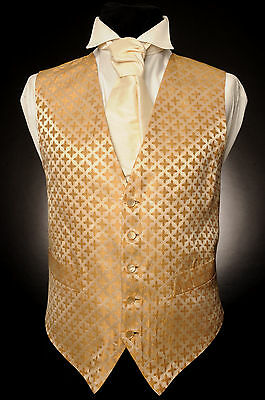 W - 520 Golden Cross Formal Wedding Waistcoat