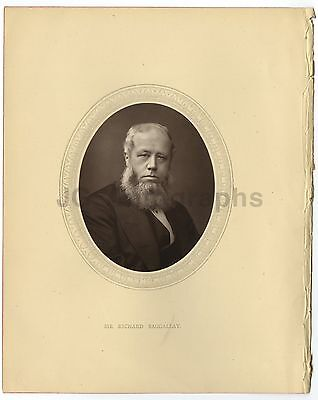 Richard Baggallay - British Politician - 19th Century Woodburytype Photograph
