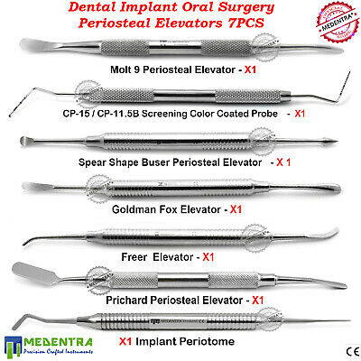 Surgical Dental Implant Oral Surgery Kit Sinus Lift Periosteal Elevators Lab New