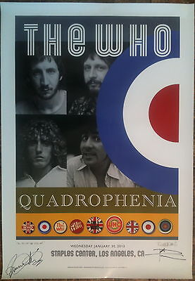 The Who -  Los Angeles - SIGNED (by Daltrey & Townshend!!!) Quadrophenia Poster