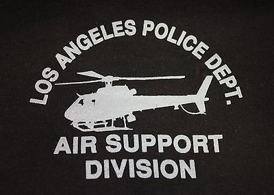 LAPD Los Angeles Police Air Support Division Helicopter Logo T-Shirt
