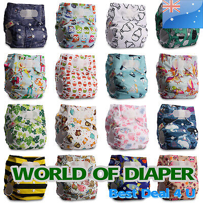 Baby Washable Reusable Real Cloth STANDARD Hook-Loop Pocket Nappy Diaper