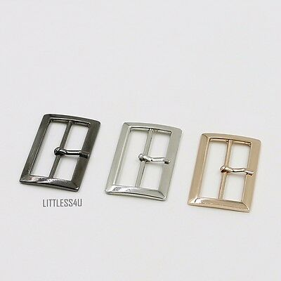 2 X Alloy Pin Buckles for Leather Belt Bag Coat Jacket Shoes 2-5cm Silver/Gold