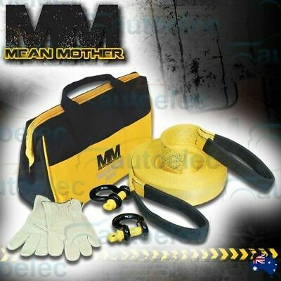 MEAN MOTHER 5 PIECE WINCH 4x4 RECOVERY KIT SNATCH STRAP SHACKLE 4WD RESCUE SMALL