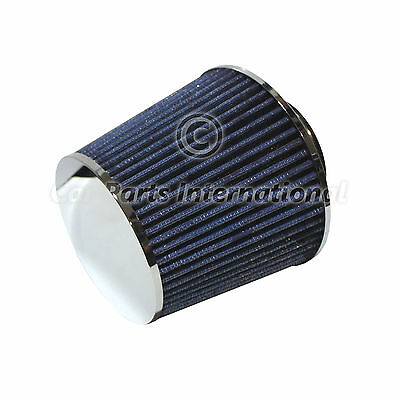 Universal Blue Sports Performance Air Filter Cone Induction Kit Straight Gauze