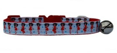 Red & white Betty Boop safety kitten cat collar 3 sizes