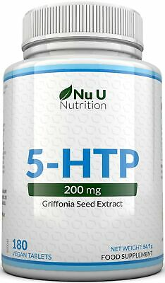 NU U 5HTP 200mg 180 Tablets  Depression Insomniac Anxiety Mood 100% Money Back
