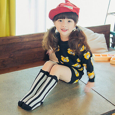New Japan Style Toddlers Kids Girls Knee High Socks For Age 1-4 Years Hot SO