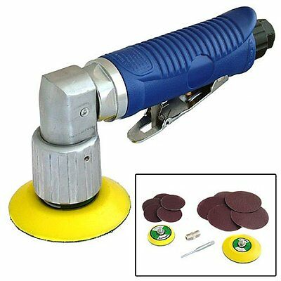 MINI DA DUAL ACTION ORBITAL AIR SANDER TOOL 50mm + 70mm SANDING PADS + 10 DISCS