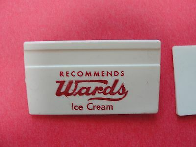 Vintage Wards Ice Cream Name Tag Pin Back