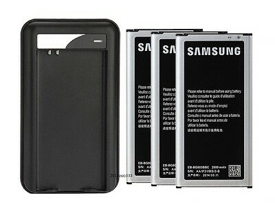 New 2800mAh OEM Battery + Charger For Samsung Galaxy S5 I9600 G900A G900T G900