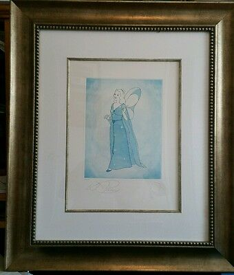 Disney Blue Fairy Aquatint Framed - LE