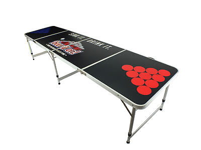 New Beer Pong Table 8' Aluminum Folding Outdoor Tailgate Drinking Game #12