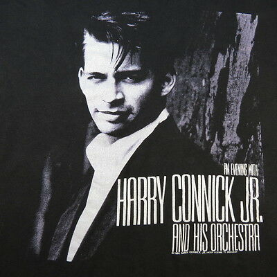 HARYY CONNICK Jr. AND HIS ORCHESTRA 1990 CONCERT TOUR TEE T SHIRT Sz Mens L
