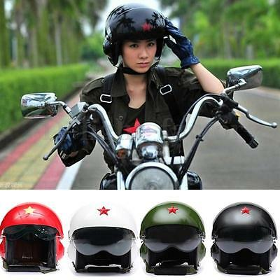 New 4color Jet Air Force Flight/Pilot Open Face Motorcycle Scooter Visors Helmet