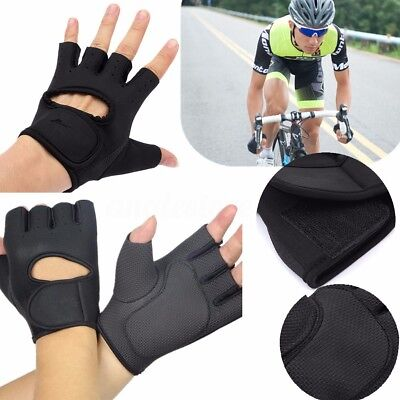 Half Finger Motorcycle Bike Bicycle Riding Cycling Sports Gloves GEL Pad S-XL