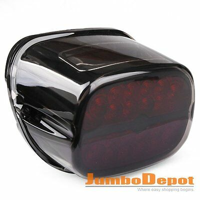 Smoke&Black LED Taillight w/License Plate Lamp For Harley Sportster XL/Dyna FXD