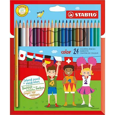STABILO Colouring Pencils - Includes Neon Colours (1924/77-01) - Wallet of 24