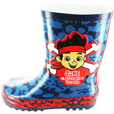 Jake And The Neverland Pirates Boys Wellington Boots, Disney Wellies - Size 5-10