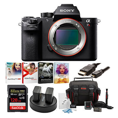 Sony Alpha a7RII Mirrorless Camera (Body) with 128GB Deluxe Accessory Bundle