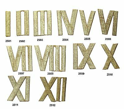 Gold Roman Number Embroidery Iron On Appliqué Patch/PC