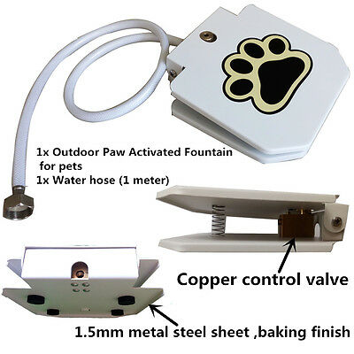 Automatic Doggie Water Fountain Dog Sprinkler Dispenser Paw Activated for pets