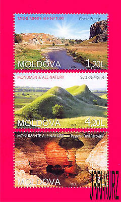 MOLDOVA 2012 Nature Monuments Attractions Mountains River Cave Cavern 3v MNH