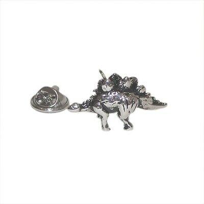 Stegosaurus Lapel Pin Badge Shirt Collar Brooch Dinosaur Mens Gift