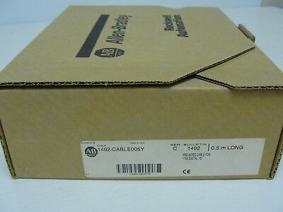 Allen Bradley 1492-CABLE005Y Pre-Wired Cable Ser. C