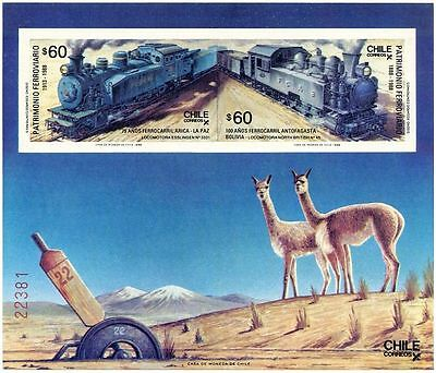Chile 1988 Railway Trains MS  MNH