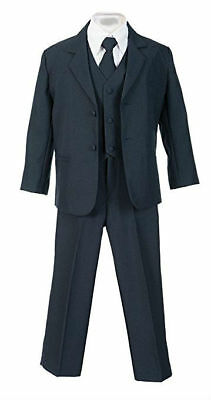 Boys Kids Children Formal Dress Suit Navy Infant Toddler Size S-XL 2T-4T 5-18