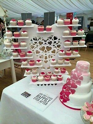 Cupcake Stand Wedding Personalised Heart Butterfly Design