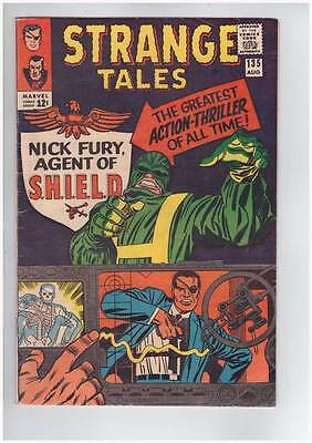 Strange Tales # 135  First Nick Fury Agent of SHIELD !  grade 6.0 scarce book !