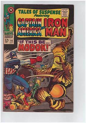 Tales of Suspense # 94  First appearance of Modok !  grade 8.0 scarce book !