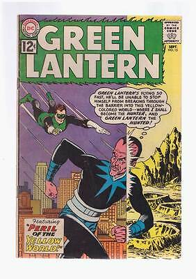Green Lantern # 15  Peril of the Yellow World !  grade 4.0  scarce book !