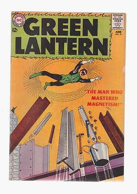 Green Lantern # 21  The Man who Mastered Magnetism ! grade 5.5  scarce book !