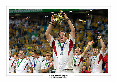 Martin Johnson World Cup 2003  A4 Print Photo England Rugby Union  2015   2