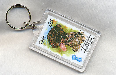 German Shorthaired Pointer Original Postage Stamp In A Key Ring Great Gift