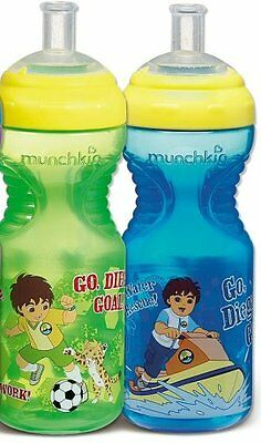 Go Diego Go-Sports Bottle-10oz-Assorted Patterns-2 in a  Pack