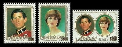 Aitutaki 1981 Royal Wedding  MNH