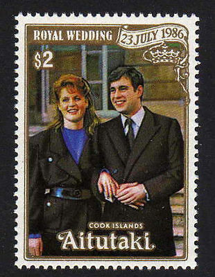 Aitutaki 1986 Royal Wedding  MNH