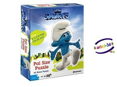 THE SMURFS MOVIE PUZZLE JIGSAW 46 pcs NEW SEALED smurf pressman OVER 2 1/2 ft