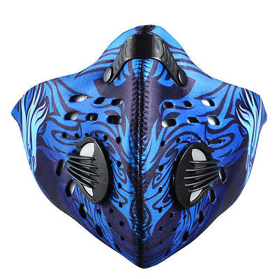 RockBros Cycling Anti-dust Blue Half Face Mask with Filter Neoprene
