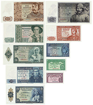k10 1-500 zloty 15.08.1939 Bank of Poland  Goyernament in Exile, reprint replica