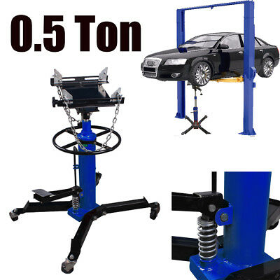 0.5 Ton 1100 lb Hydraulic Transmission Jack Stand Gearbox Lifter Hoist 2 Stage