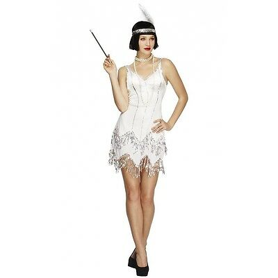 Flapper Girl Costume Adult Roaring 20s Outfit Halloween Fancy Dress