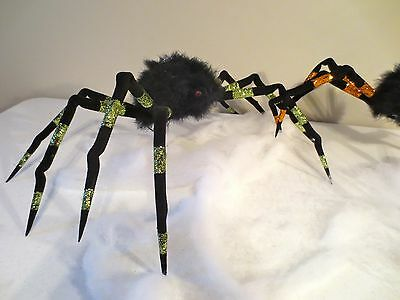"Katherines Collection~Large Green24""Halloween SPIDER~Hanging Ornament Decoration"