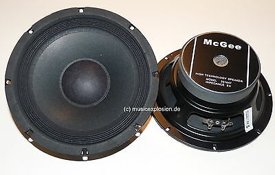 "2x McGee 20cm 8"" PA-Subwoofer Bass Speaker Woofer 200mm PAIR"