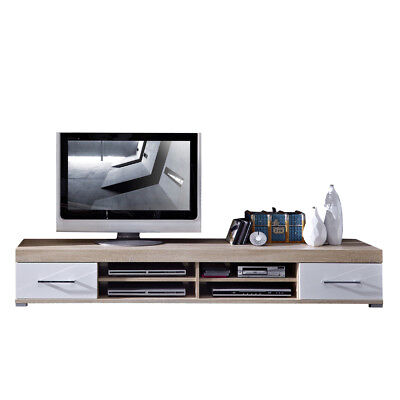 fernsehtisch schwarz wei tv tisch m bel hifi rack wohnzimmer fernsehschrank eur 242 10. Black Bedroom Furniture Sets. Home Design Ideas